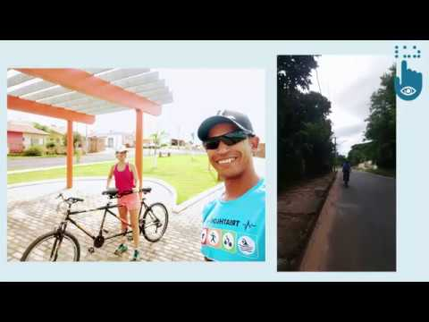 Dani apresenta sua bike de 2 lugares